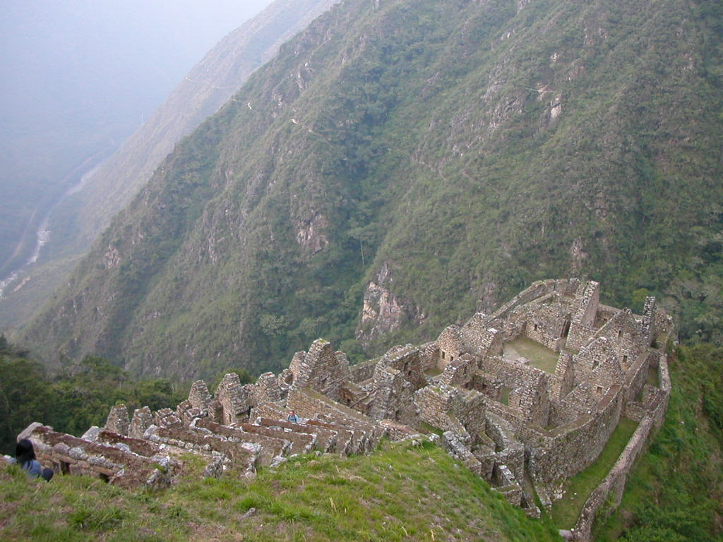 Steep settlements and farmland in the Andes mountain close to Macchu Picchu