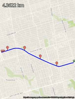 The Belt line Toronto - a mid town walking and/or running trail
