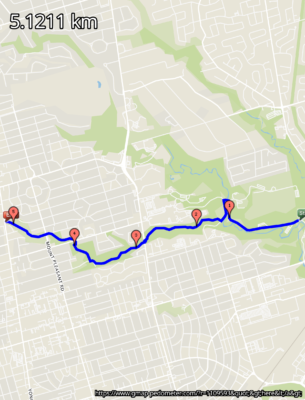 Blythwood - Sherwood Park - Sunnybrook Trail route on map