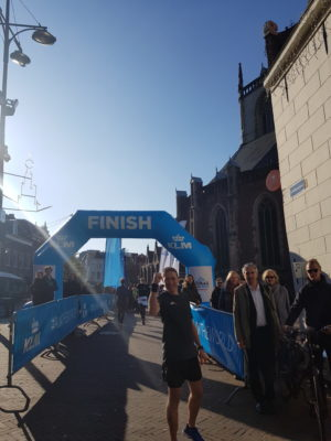 Finish Arch next to St Bavo after 10km Urban Trail run