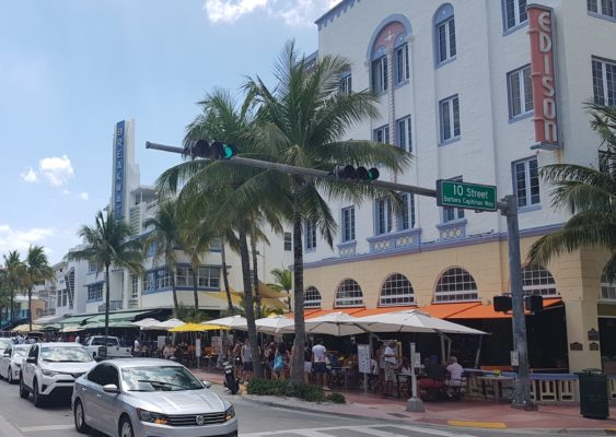 Examples and part of Art Deco District Miami