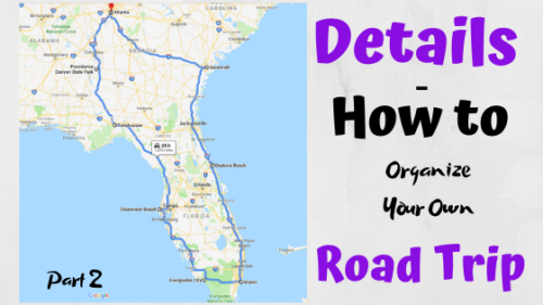Details on how to organize your own road trip
