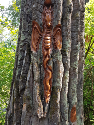 Dragon Carving at Cottonwood Island Trail - Prince George - British Columbia