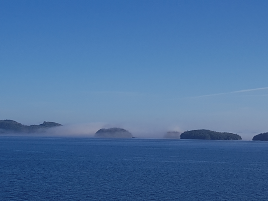 Early morning mist around the islands of the Inside Passage, BC, Canada
