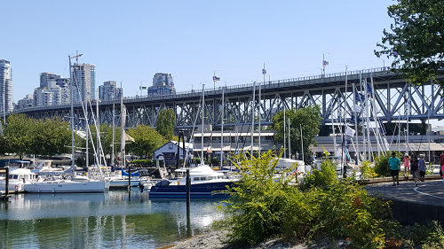 Vancouver -view of the city and Granville Island