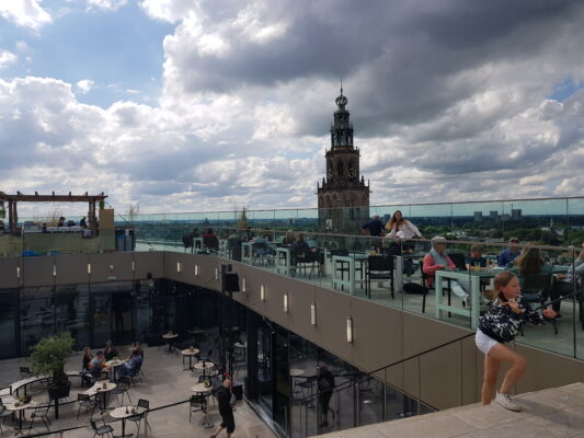 View from the roof terrace of Forum, Groningen